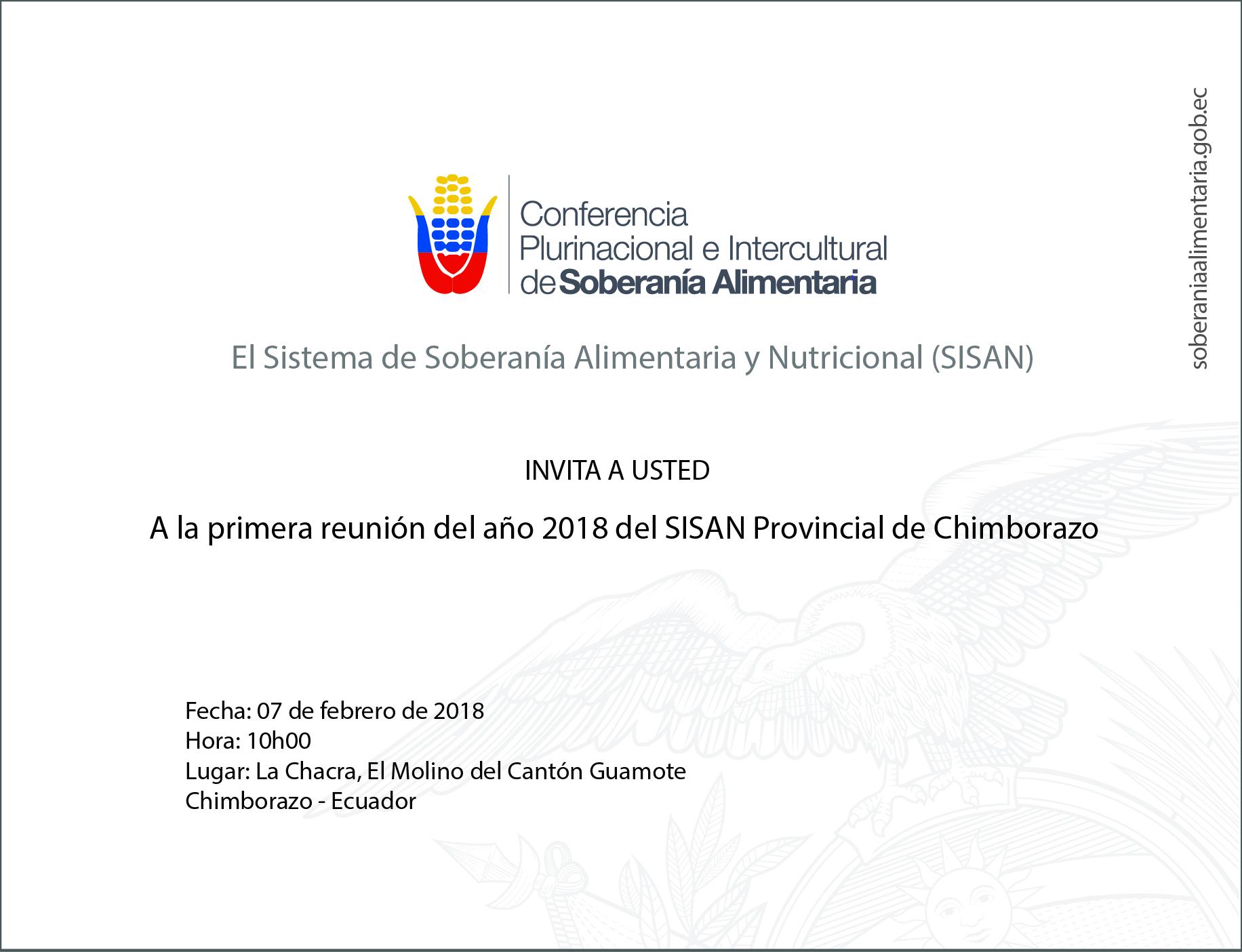 Invitación SISAN Chimborazo